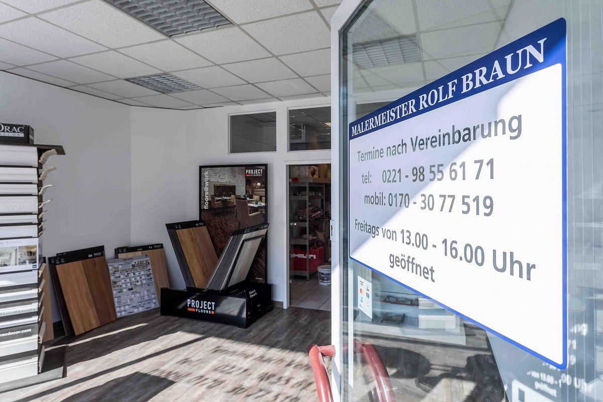 Eingang zum Malermeisterbetrieb in Köln